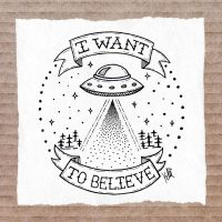 Tattoo I want to believe by inzanita