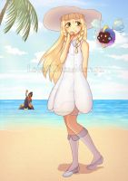 A day at the beach! by Love2DrawManga