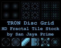 TR0N Disc Grid HD Fractal Tile Stock by jayaprime
