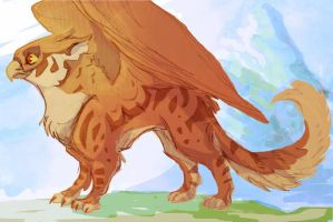 Brown Gryphon by Professor-R