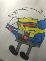SpongeBob as Soldier: 76 by SomeStupidKid