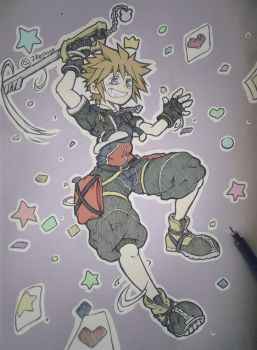 KH - Sora (Traditional) by 7Repose