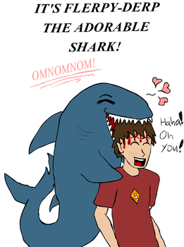 Flerpy-Derp The Adorable Shark by Vash-Fish