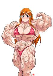Muscular Orihime Commission 3 by InterstellarrSpace
