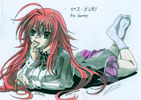 Rias Gremory - Highschool DXD by BlackLeatheredOokami