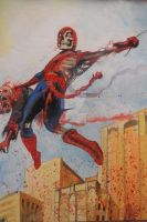 MARVEL ZOMBIES SPIDERMAN by BUMCHEEKS2