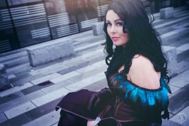 Yennefer at MCM closeup by RealRavenStarCosplay
