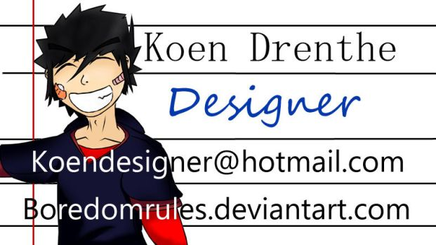 business card by BoredomRules