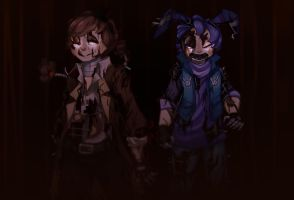 Nightmare Fred And Bon by Lady-Was-Taken
