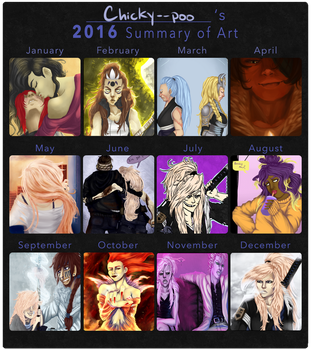 Chicky's 2016 Summary of Art by Chicky--poo