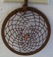 Brown Web Dreamcatcher by ElkStarRanchArtwork