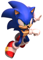 Sonic Forces - Boxart Modern Sonic Pose Render 2 by alsyouri2001