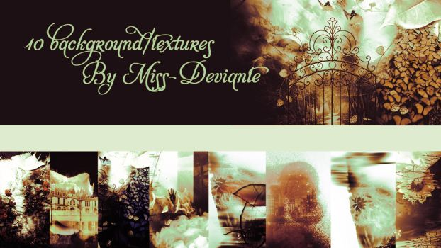 10 Background textures by Miss-deviantE
