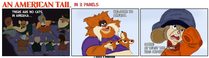 An American Tail in 3 Panels by Cilmeron