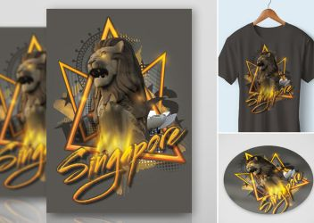 Sticker Tshirt Print Singapore by n2n44studio