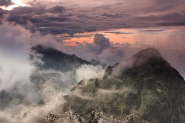 Glow over the Mountain Peaks by Fotobasa