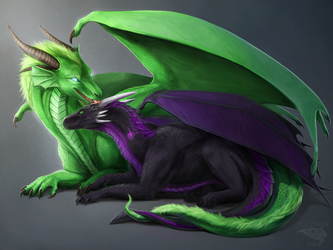 Faunic and Lythi by FellFallow