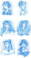 Disney Princesses by RiTTa1310