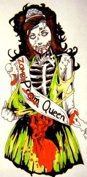 Zombie Prom Queen by fireandthefury