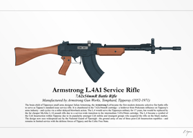 Armstrong L.4A1 Service Rifle (NationStates) by graphicamechanica