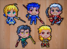 FATE chibi sprites by Aenea-Jones
