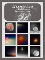 12 soft moon textures by innocentLexys
