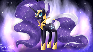 (Commission) Nightmare Rarity~ by MLP-Firefox5013