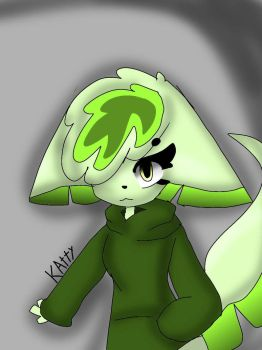 leafy - oc drawing- by kattyanimations