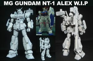MG GUndam NT-1 ALEX WIP by alphaleo14
