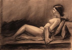 Shannon-Reclining nude by humblestudent