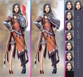 Yu Mei Ling Alt Poses and Expressions by Clearmirror-StillH2O