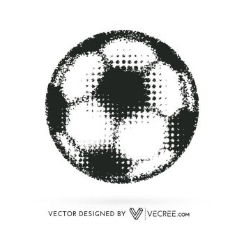 Artistic Football Design Free Vector by vecree