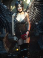 Black Angel 2 by LaMuserie