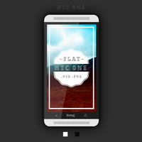 Htc One Flat PSD by Zohan1980