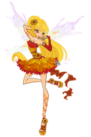 [WINX] - Stella Nymphix, the Sunflower of Solaria by FlareViper