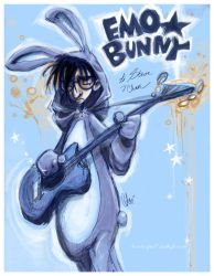EMO Bunny for Steve Emond by SpookyChan