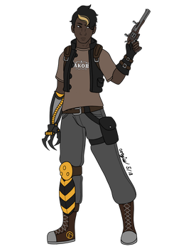 Another god damned borderlands oc by corgiss