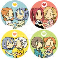 Button Couple - MM by caly-graphie