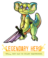 CDC day 23 - Legendary Hero by flatw00ds
