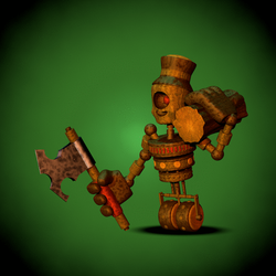 Fnaf world Fanmade Enemies : The Wooden Cychops by Popi01234