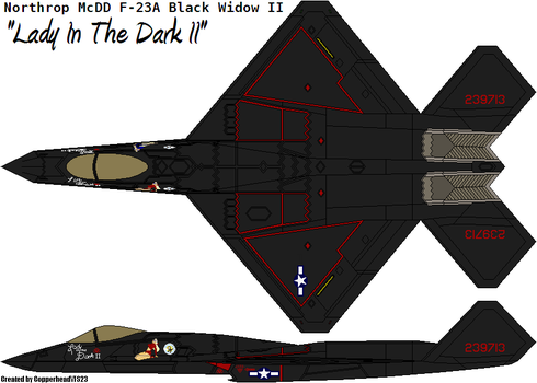 F-23A Black Widow II (Lady In The Dark) by CopperheadYSF23