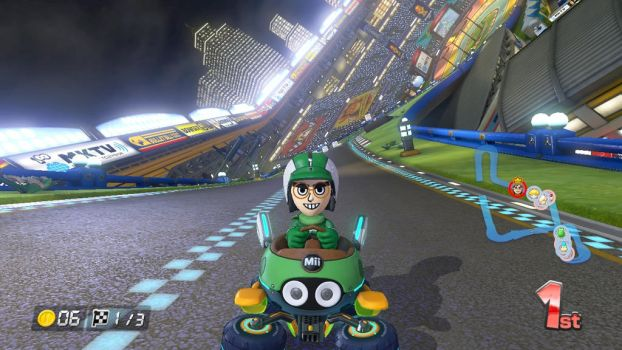 Hal (Mii) in Mario Kart 8 by jared33