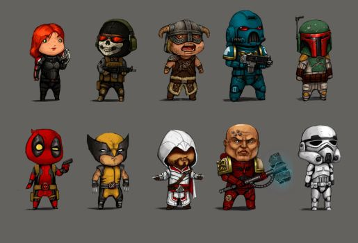 10 Characters that I like to draw. by FonteArt