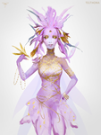 Pink Gold Fairy by telthona