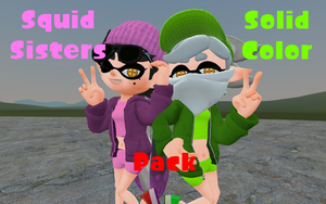 Squid Sister Solid Color pack by DarkMario2