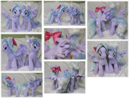 Flitter + Cloudchaser plushies by Rens-twin