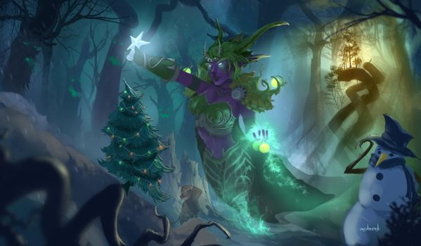 an emerald christmas world of warcraft by d1eselx on deviantart - World Of Warcraft Christmas