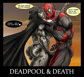 DEADPOOL AND DEATH by B9TRIBECA