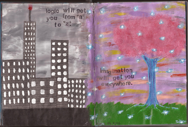 Art Journal: Entry #20 - Logic vs Imagination by Greenpolarbear47