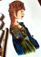 First Copic Drawing by WitTea